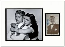 Mickey Rooney Autograph Signed Photo Display